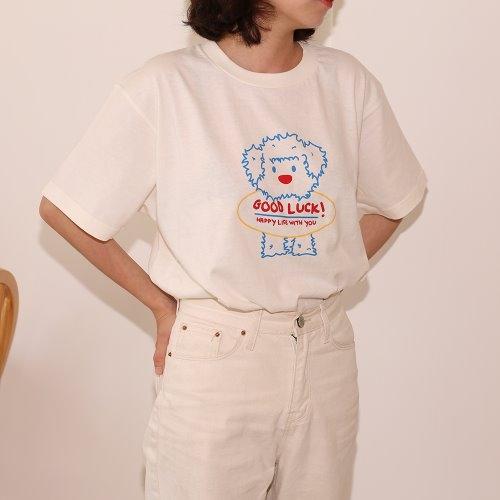 미들샵 굿럭 커플티셔츠 보호자용 (아이보리)